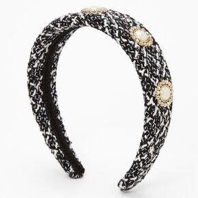 Tweed Wide Headband - Black,
