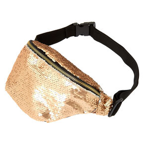 Reversible Sequin Fanny Pack - Rose Gold,