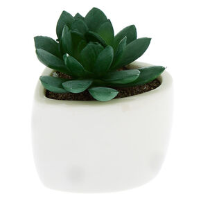 Faux Succulent Heart Plant - White,