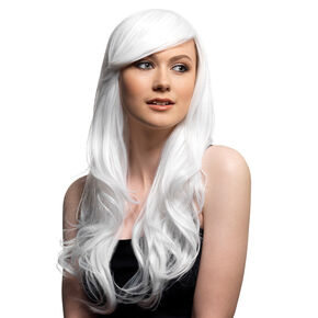 Long Length Wig - White,
