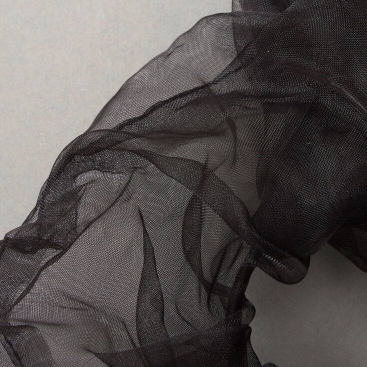 Giant Organza Hair Scrunchie - Black,