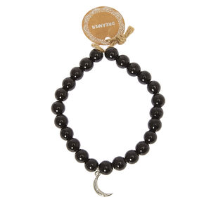 Dreamer Beaded Stretch Bracelet - Black,