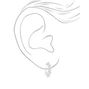 Silver 20MM Ornate Hoop Earrings,