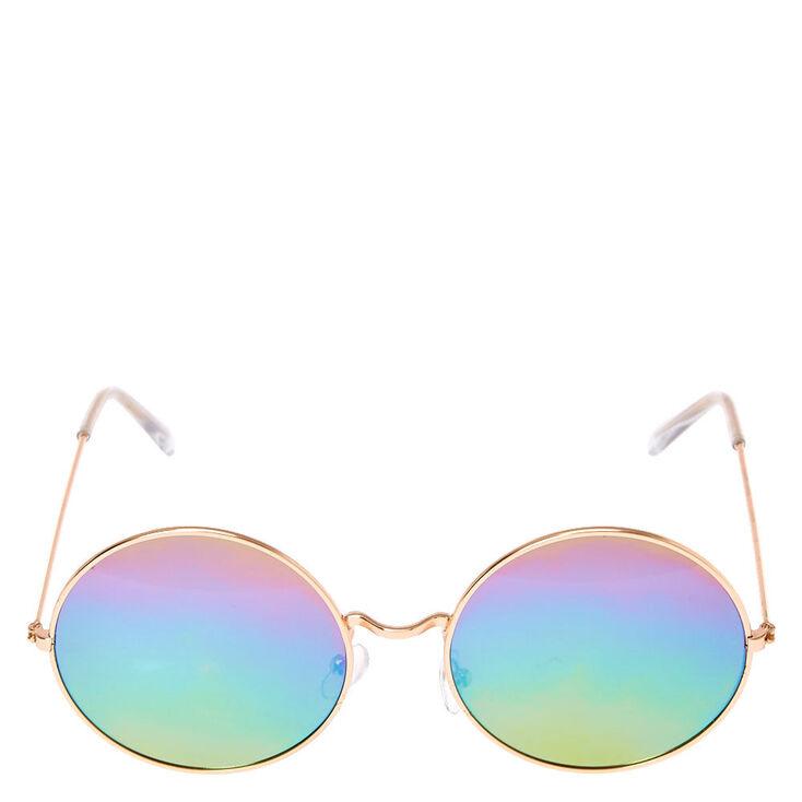 Round Rainbow Sunglasses,