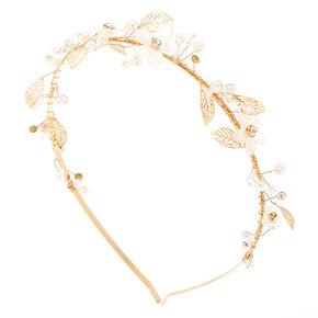 Gold Daisy Vine Headband,