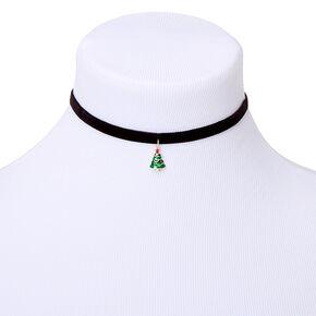 Velvet Tree Choker Necklace,