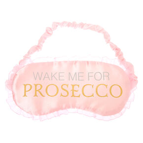 Wake Me For Prosecco Sleeping Mask - Pink,