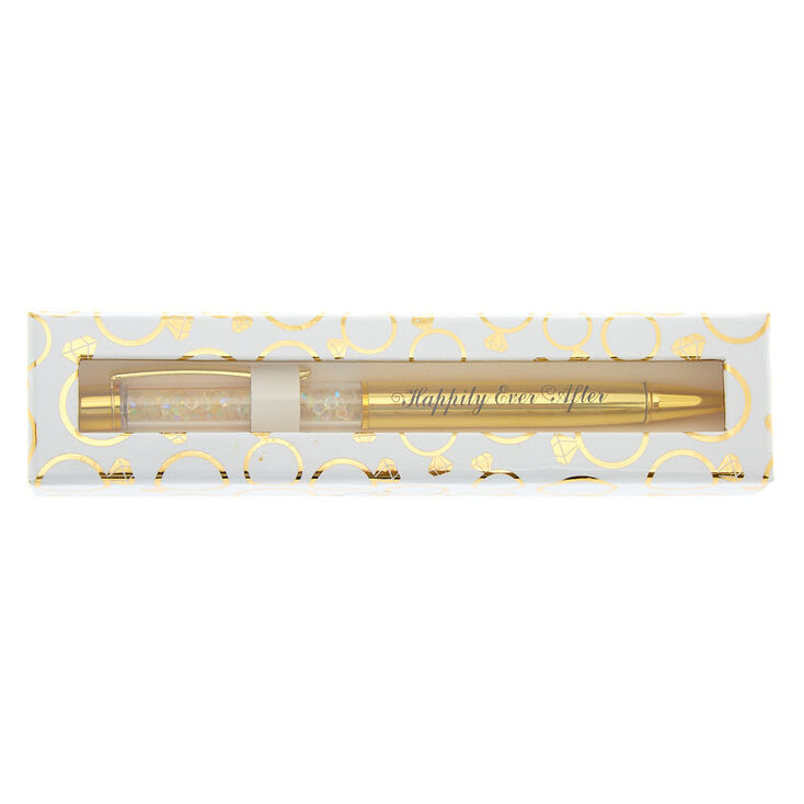 Gold-Tone Happily Ever After Sequin Shaker Pen,