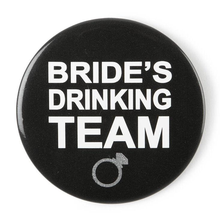 Bride's Drinking Team Button,