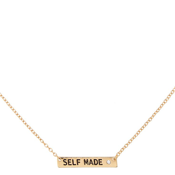 SELF MADE Gold-Tone Bar Necklace,