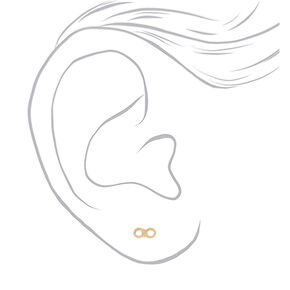 Mixed Metal Infinity Stud Earrings - 9 Pack,