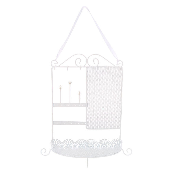 Filigree Jewelry Holder - White,