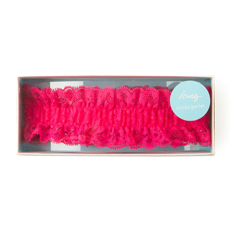 Hot Pink Lace Bridal Garter,