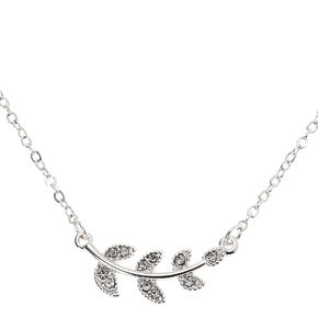 Silver Vine Pendant Necklace,