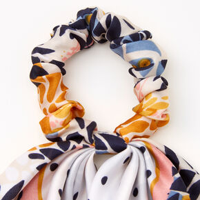 Small Polka Dot Floral Hair Scrunchie Scarf,
