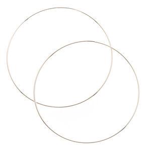 100MM Skinny Silver Tone Hoop Earrings,