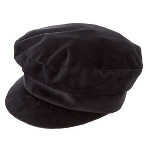 Velvet Captain Hat - Black,