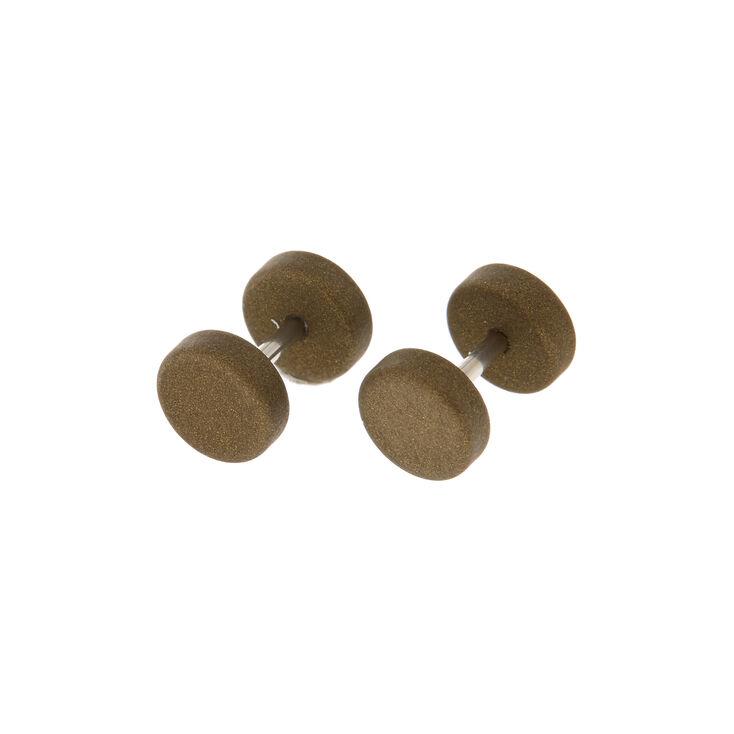 Metallic Faux Plugs - Olive Green,