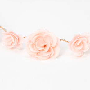 Glitter Roses Flower Crown Headwrap - Blush,