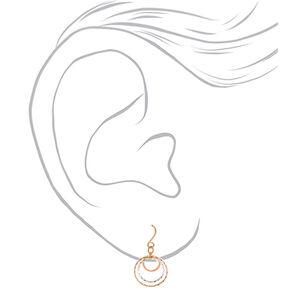 "Mixed Metal 1"" Filigree Drop Earrings - 3 Pack,"