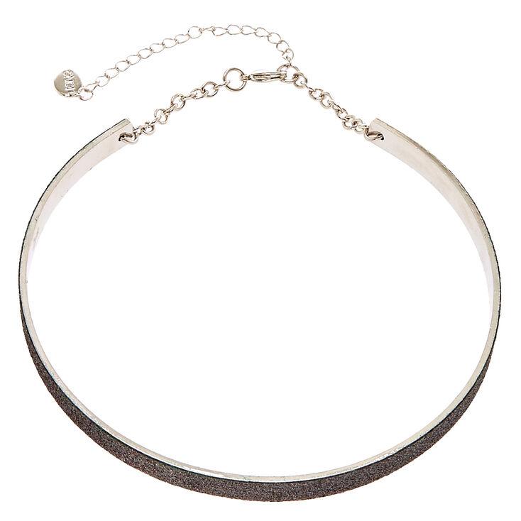 Black Glitter Tape Collar,