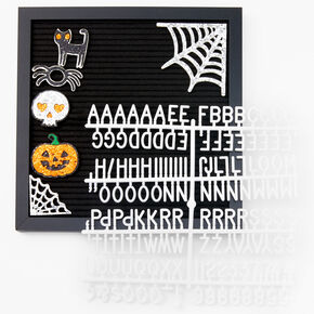 Framed Halloween Letter Board - Black,