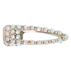Silver Iridescent Bling Jumbo Hair Clip,