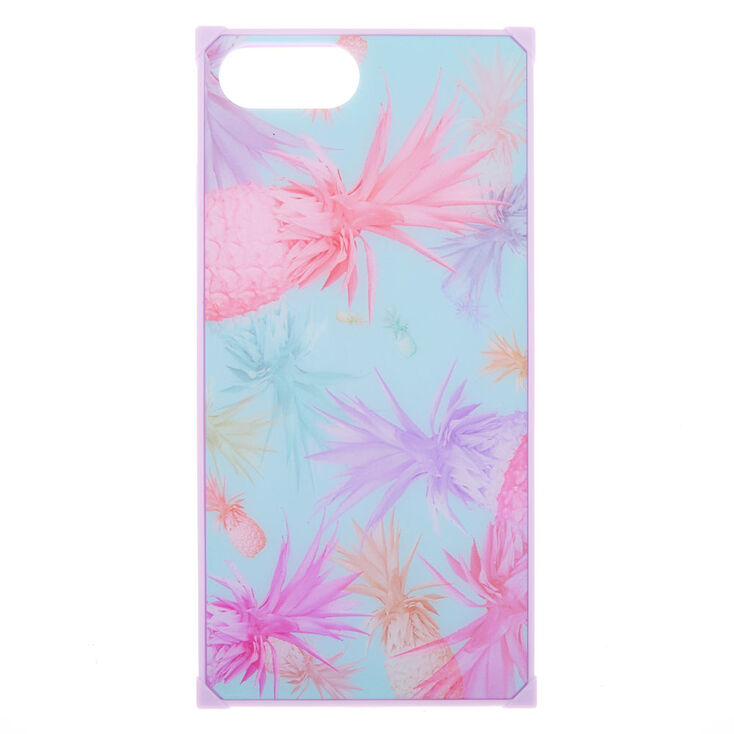 Holographic Pineapple Square Phone Case - Fits iPhone 6/7/8 Plus,