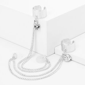 Silver Gem Charm Ear Cuffs - Compatible With Apple AirPods®,