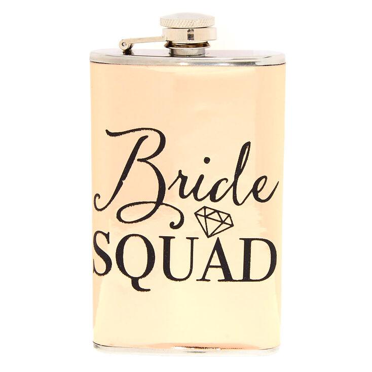 Rose Gold Bride Squad Flask,