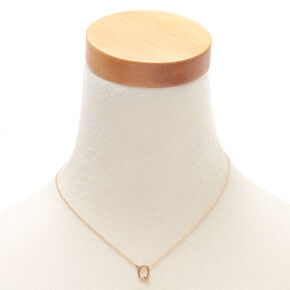 Gold Initial Necklace - Q,