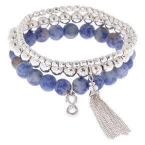 Creativity Fortune Stretch Bracelets - Blue, 3 Pack,