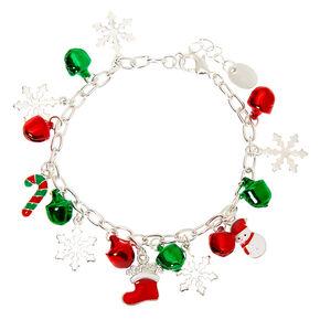 Silver Bells Charm Bracelet,