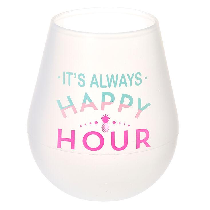 It's Always Happy Hour Silicone Wine Glass,
