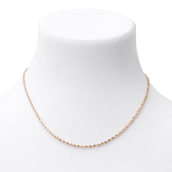 Gold Twisted Rope Chain Necklace,