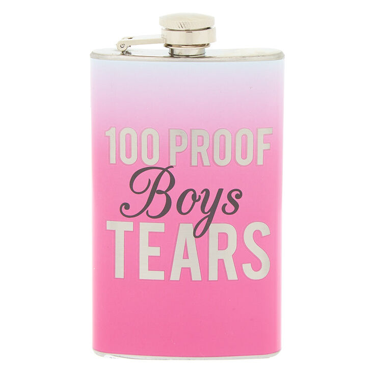 100 Proof Boys Tears Flask - Pink,