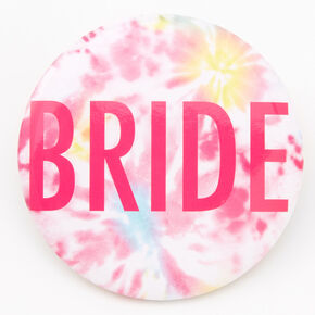 Tie Dye Bride Button - Pink,