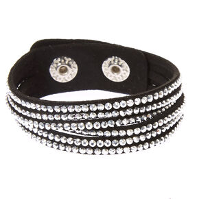 Studded Layered Wrap Bracelet - Black,