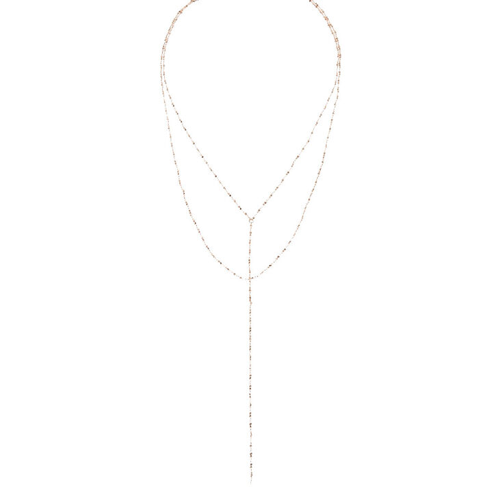 Rose Gold Rope Y-Necklace,