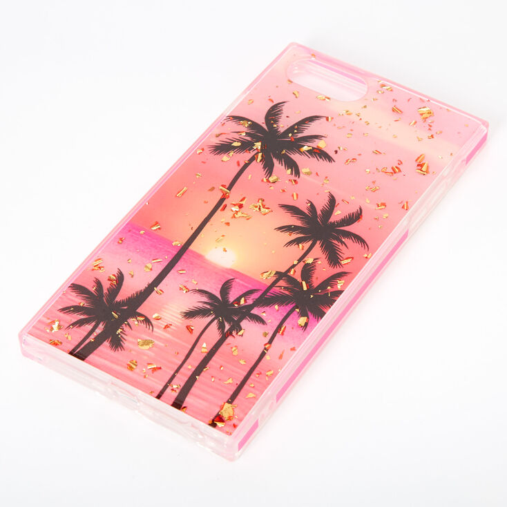 Palm Tree Sunset Square Phone Case - Fits Iphone 6/7/8 Plus,