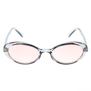 Oval Sunglasses - Blue,
