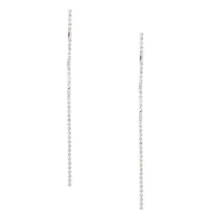 Linear Crystal Drop Earrings,