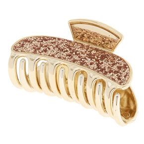 Medium Rose Gold Glitter Hair Claw,