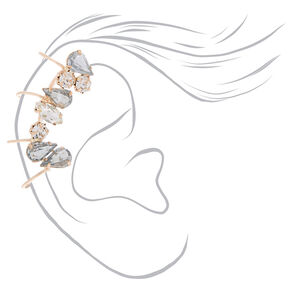 "Rose Gold 1"" Crystal Ear Cuff,"