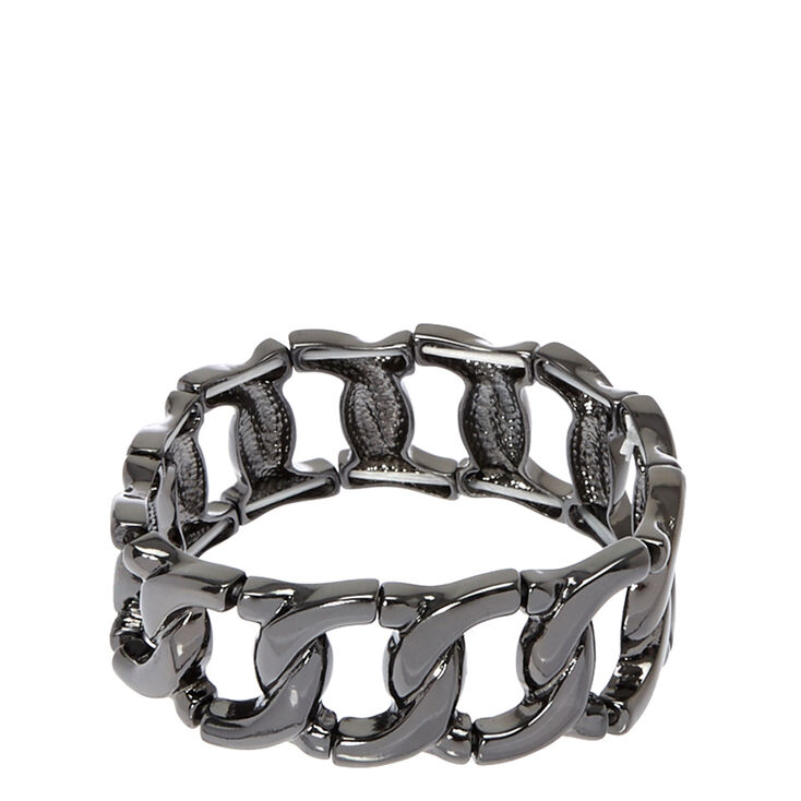 Hematite Link Stretch Bracelet,
