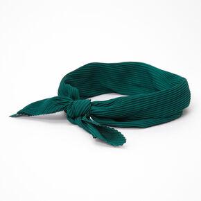 Pleated Bandana Headwrap - Hunter Green,