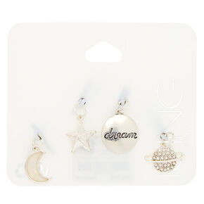 Silver Cosmic Charms - 4 Pack,