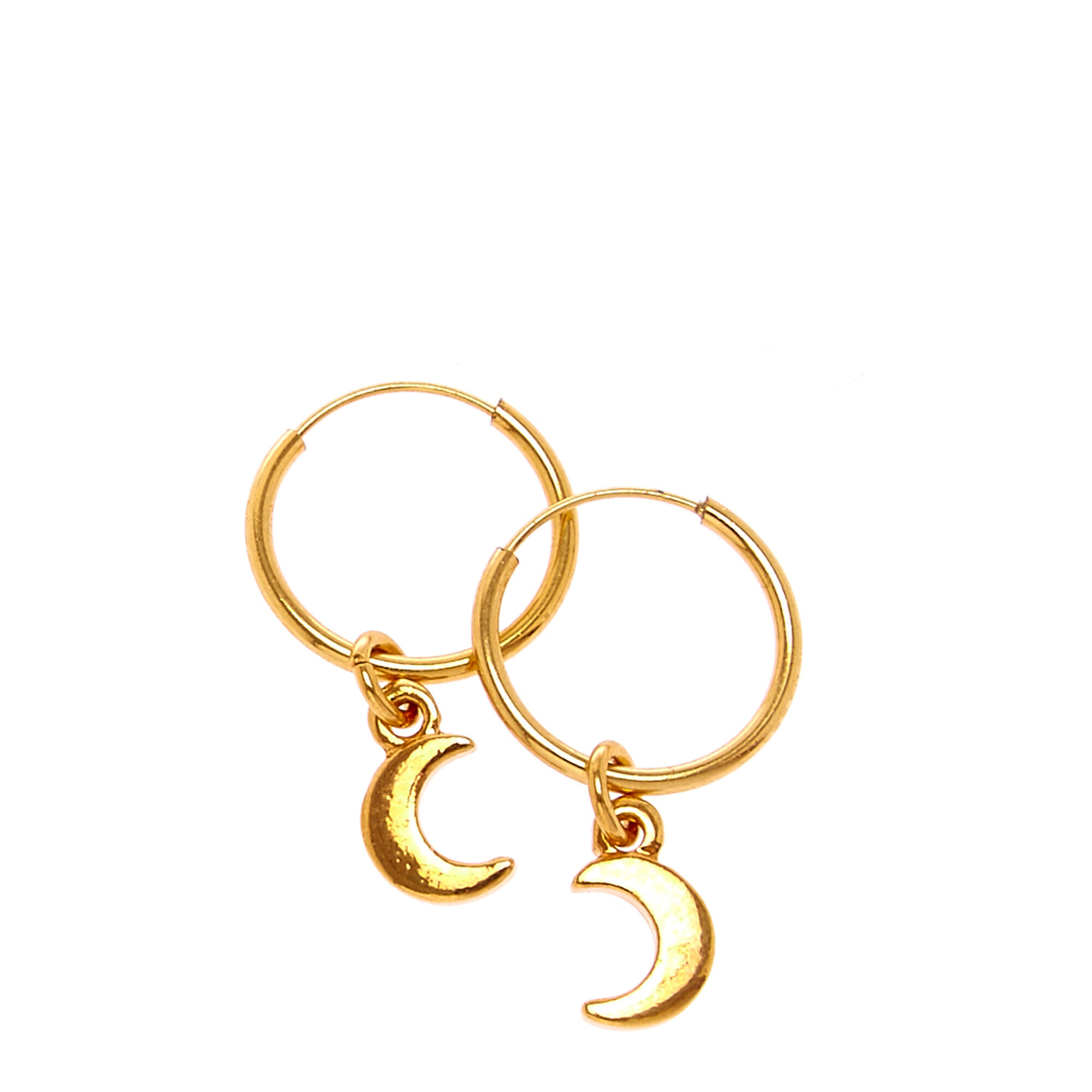 stud petite fremada com earrings crescent overstock jewelry shipping product free moon yellow gold today italian watches