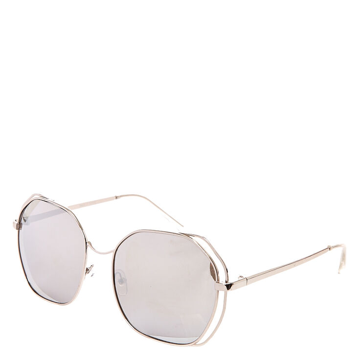 Round Retro Mirrored Sunglasses,