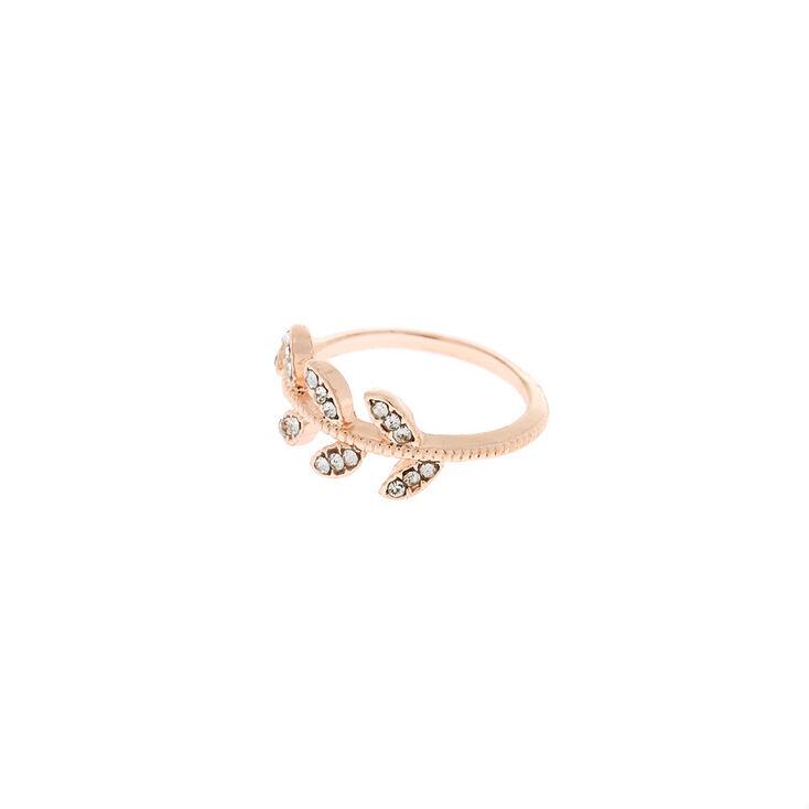 Rose Gold Leaf Ring,